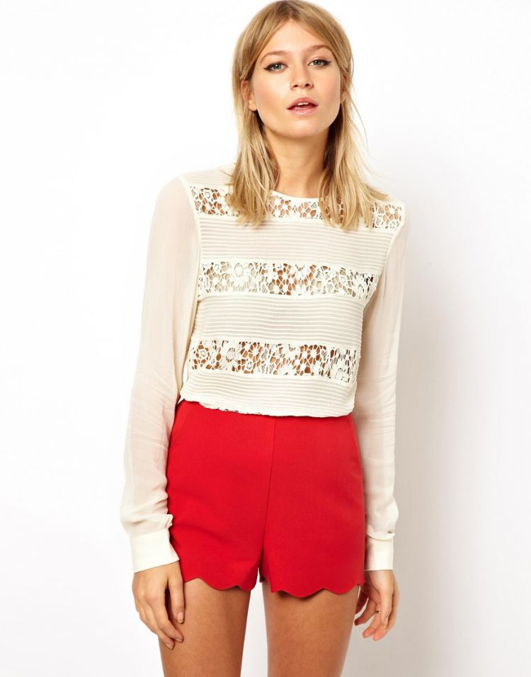 PRODUCT_IMAGE ASOS Premium Top with Heavy Lace and Pintuck Panels