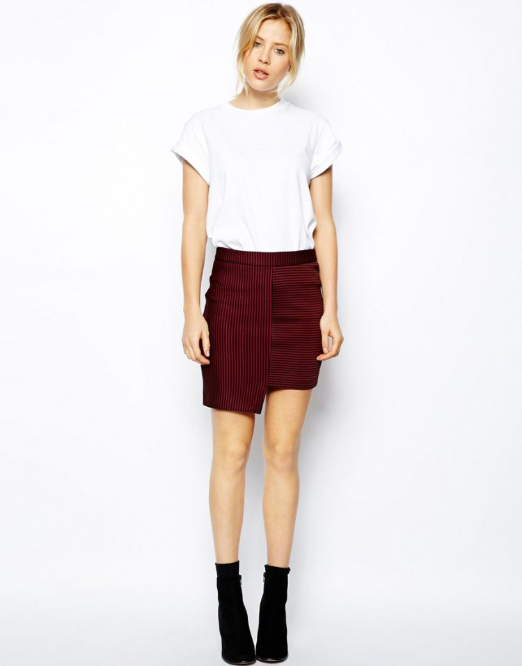 PRODUCT_IMAGE ASOS Step Hem Mini Skirt In Stripe