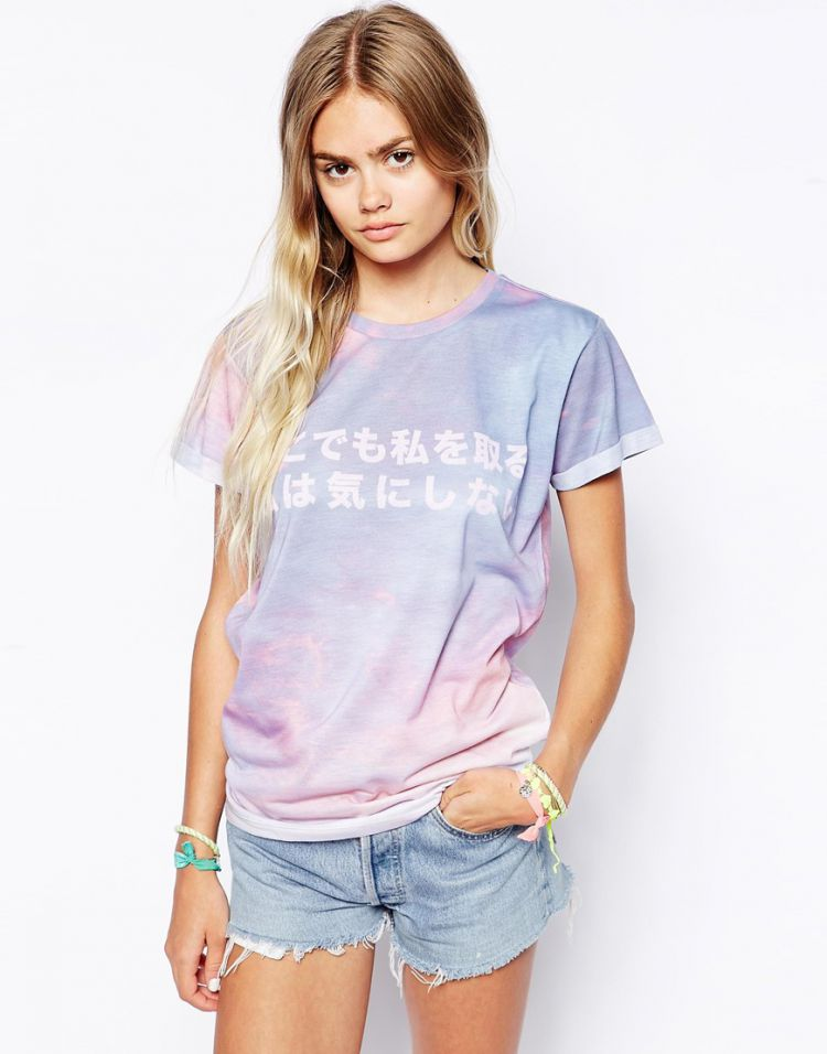 PRODUCT_IMAGE ASOS T-Shirt with Cloud & Japanese Print