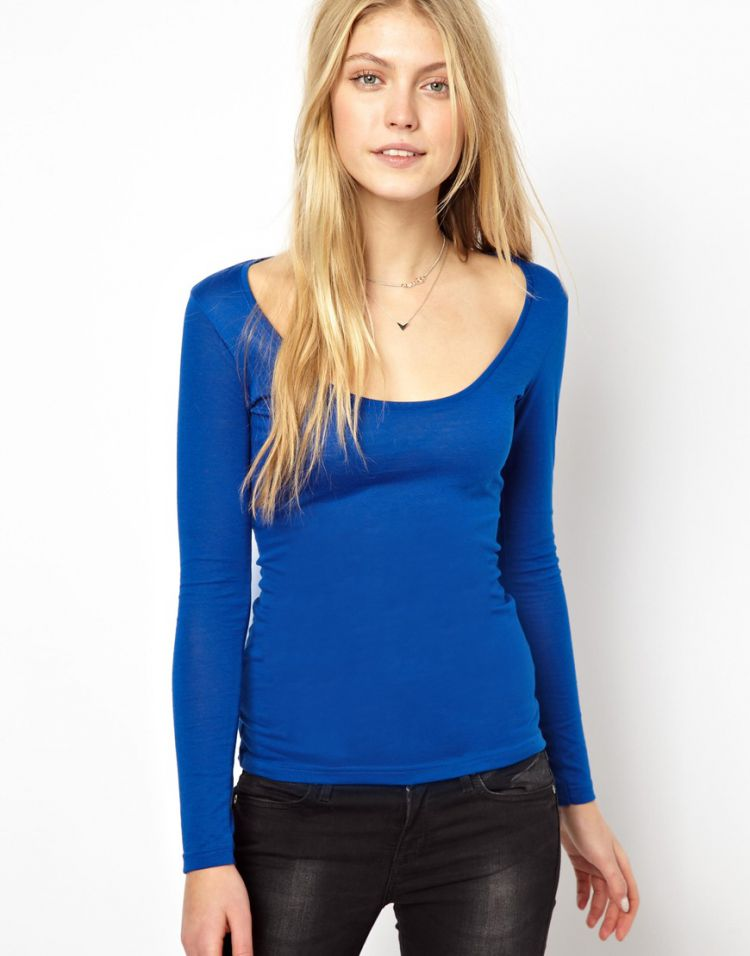 PRODUCT_IMAGE ASOS Top with Long Sleeves and Scoop Neck