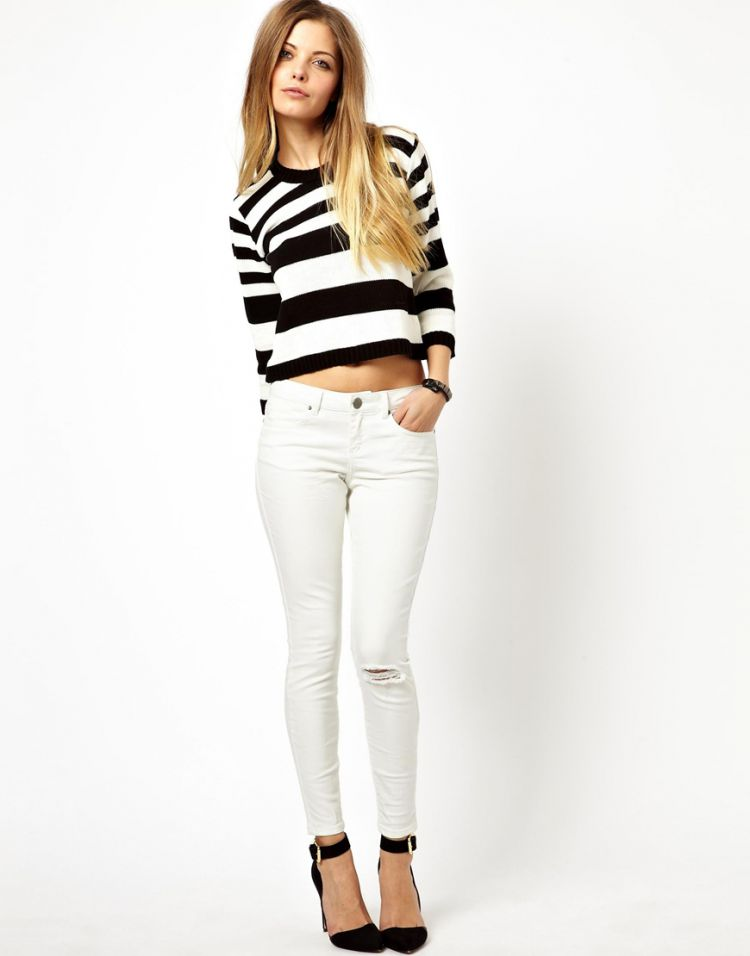 PRODUCT_IMAGE ASOS Whitby Low Rise Skinny Ankle Grazer Jeans in White with Ripped Knee