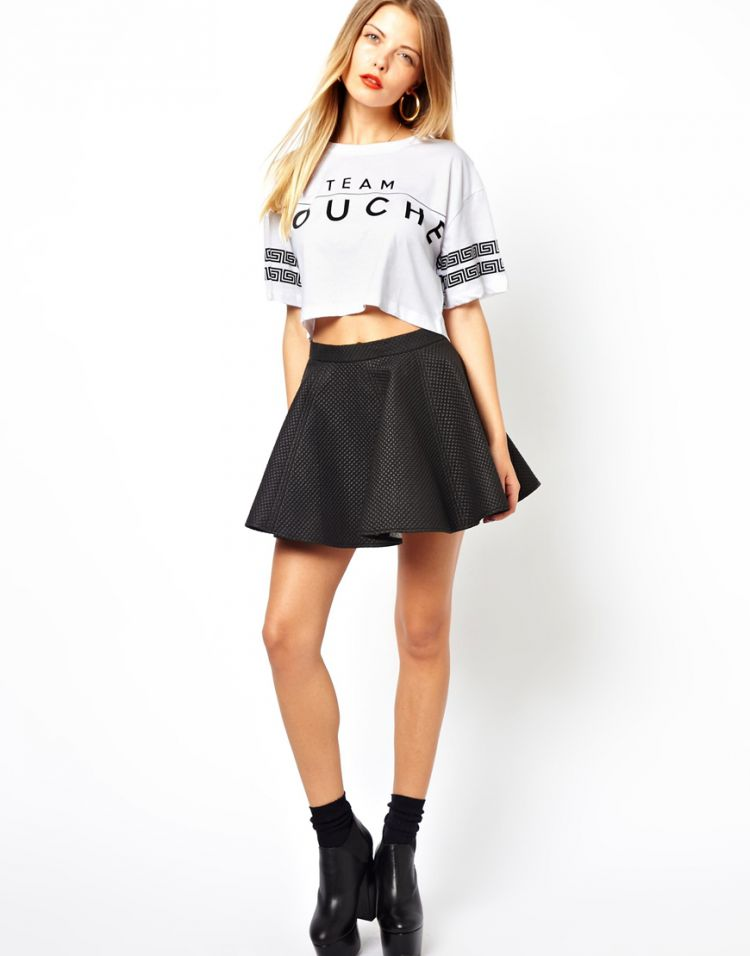 PRODUCT_IMAGE Bitching & Junkfood Quilted Skater Skirt