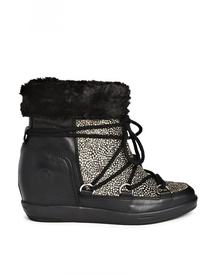 PRODUCT_IMAGE Bronx Faux Fur Lined Speckled Ankle Boots
