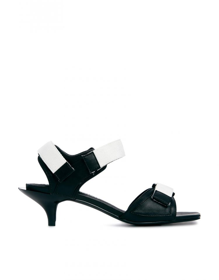 PRODUCT_IMAGE Cheap Monday Exclusive Kitten Monochrome Heeled Sandals