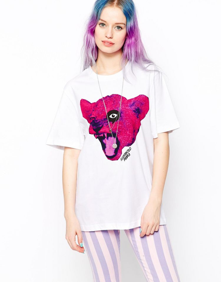 PRODUCT_IMAGE Illustrated People Angry Cat T-Shirt
