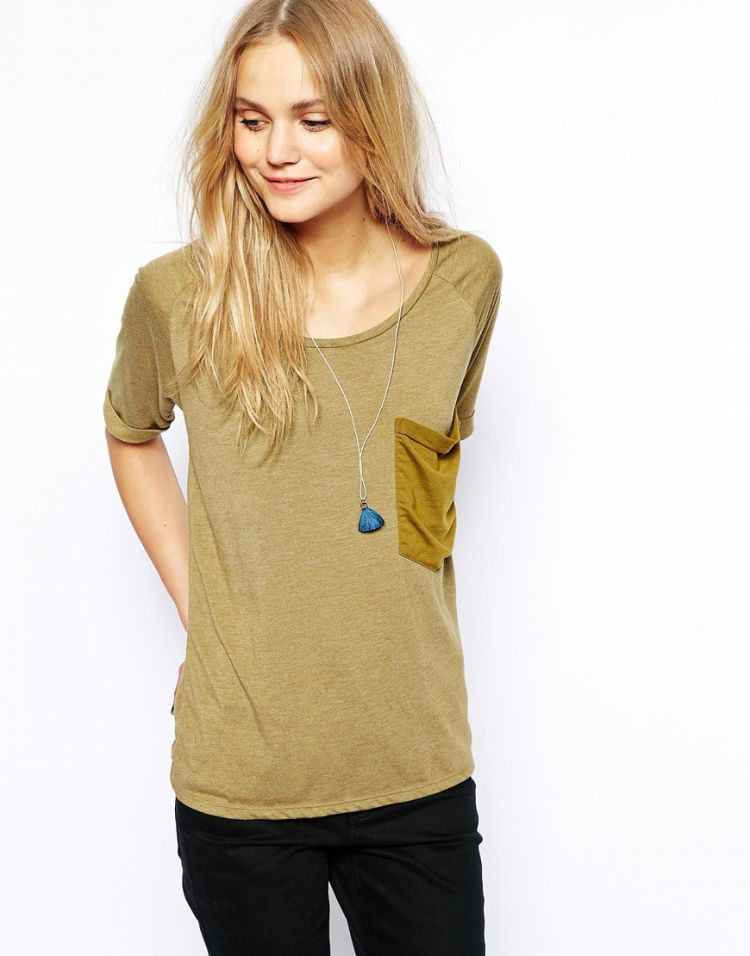 PRODUCT_IMAGE Maison Scotch T-Shirt with Pocket Detail