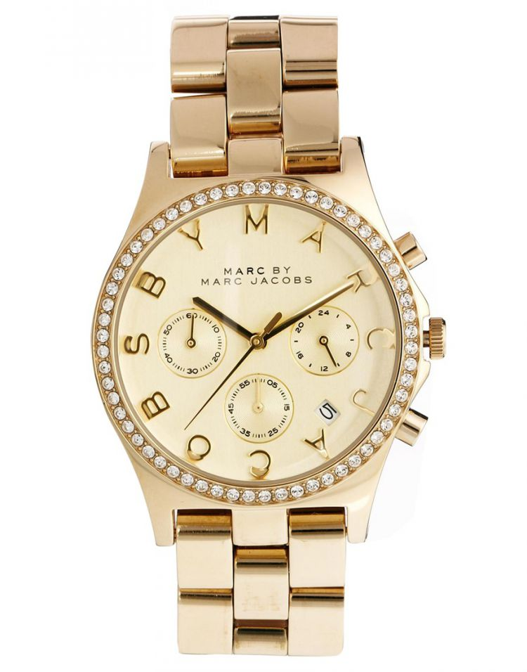PRODUCT_IMAGE Marc By Marc Jacobs Henry Glitz Gold Watch