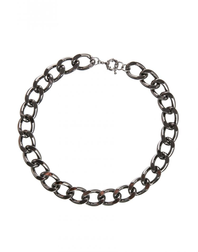 PRODUCT_IMAGE Monki Rebecka Gunmetal Chain Necklace