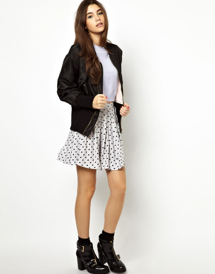 PRODUCT_IMAGE Motel Anna Polka Dot Skirt
