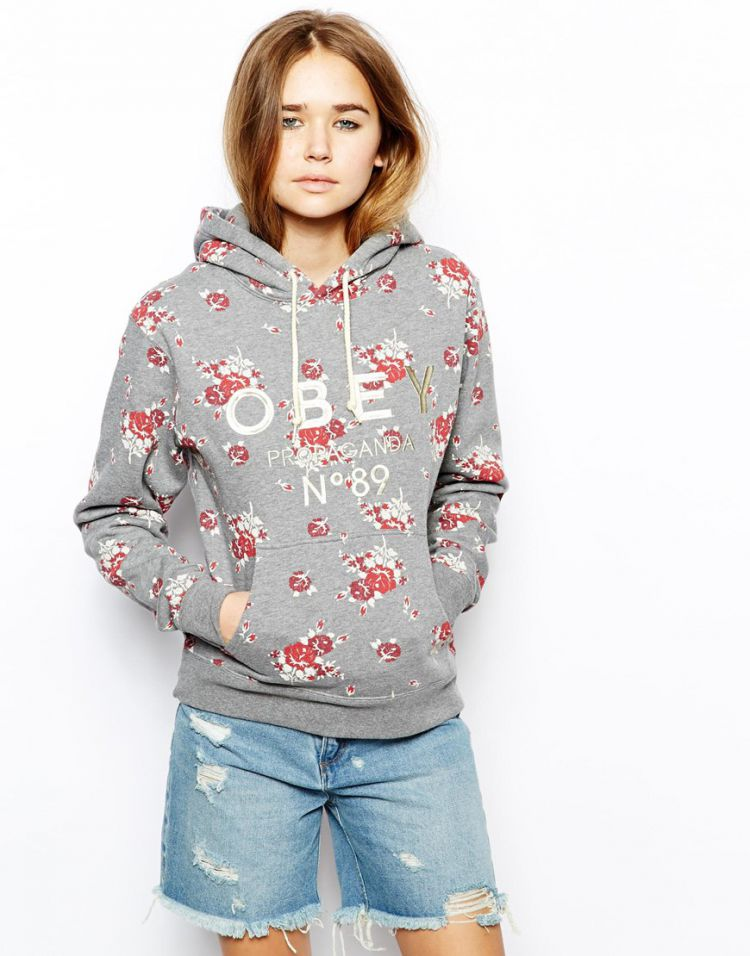 PRODUCT_IMAGE Obey Hoodie With Floral Print