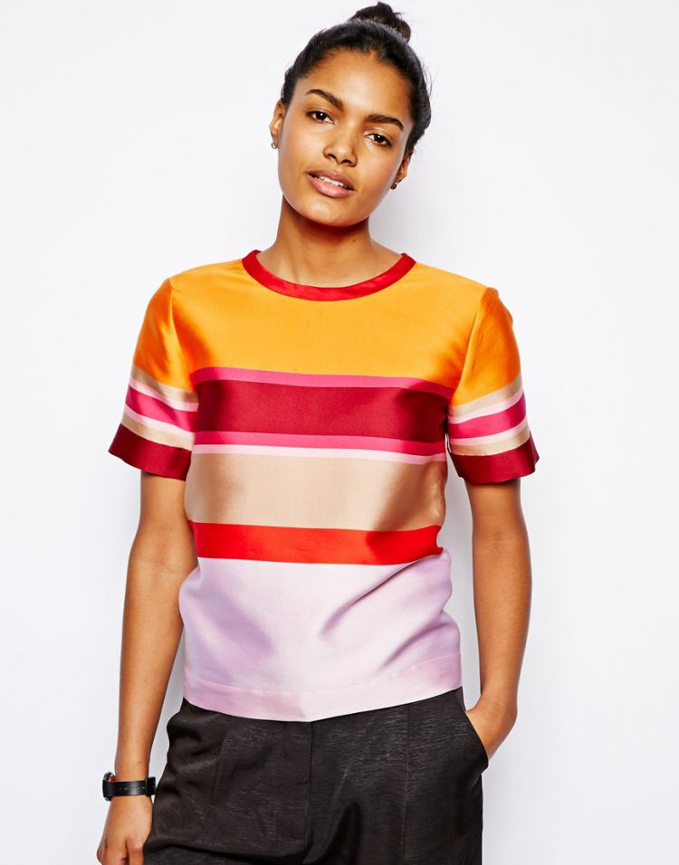 PRODUCT_IMAGE Ostwald Helgason Shell Top in Stripe