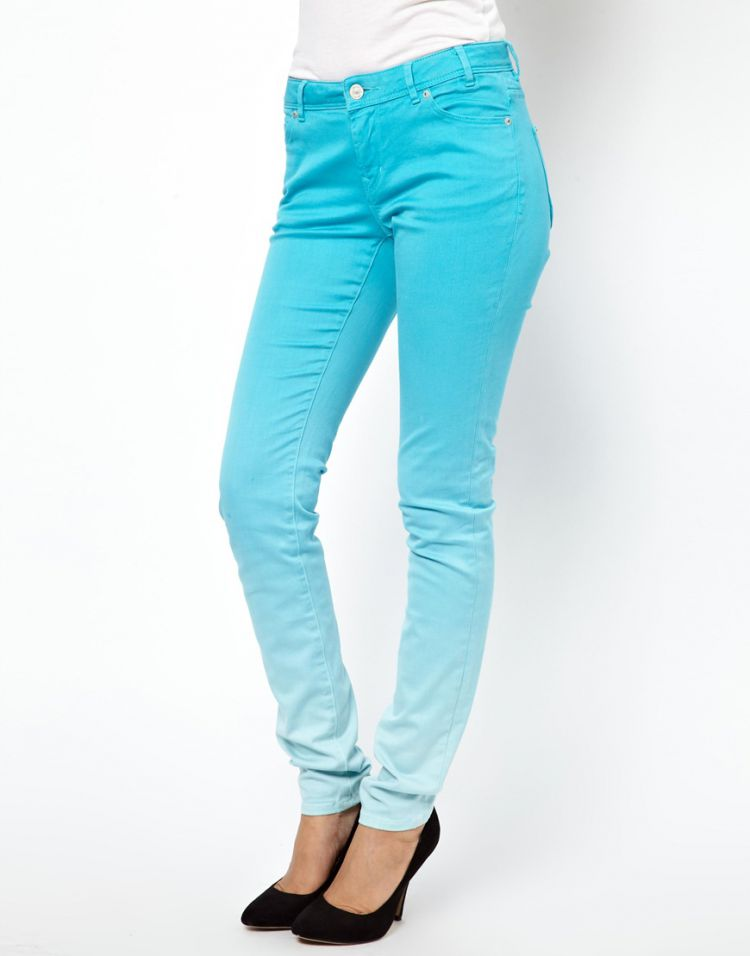 PRODUCT_IMAGE Paul by Paul Smith Dip Dye Jeans in Turquoise