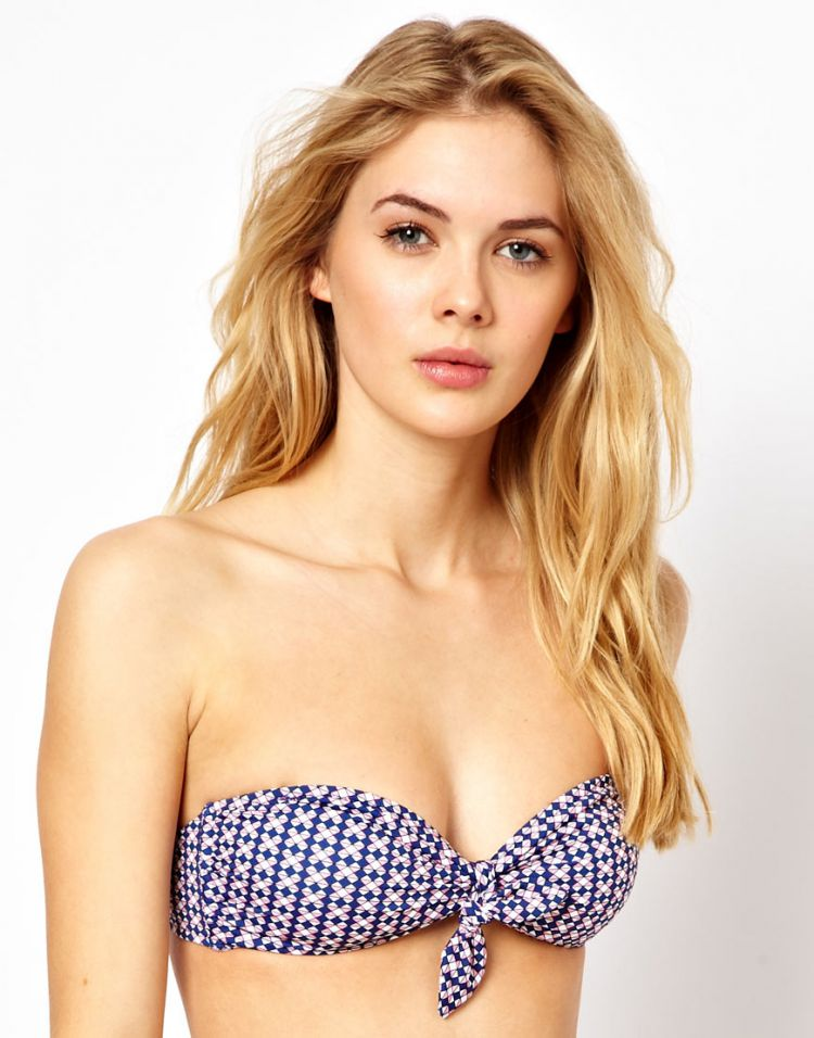 PRODUCT_IMAGE Paul Smith Geo Print Knot Front Bandeau Bikini Top