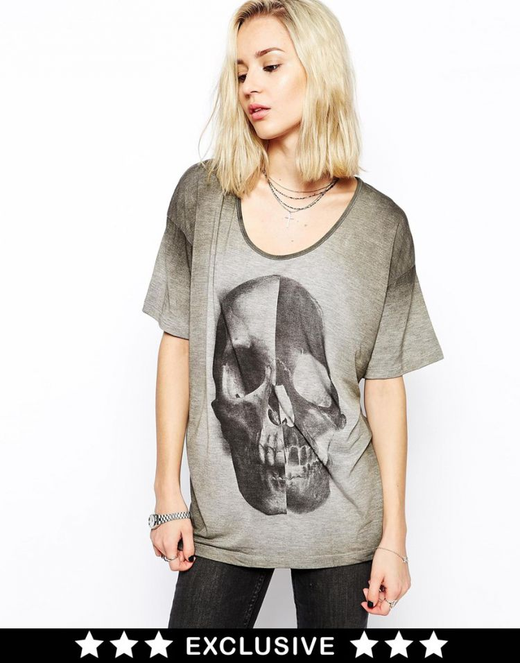 PRODUCT_IMAGE Religion Oversized T-Shirt With Giant Skull Print