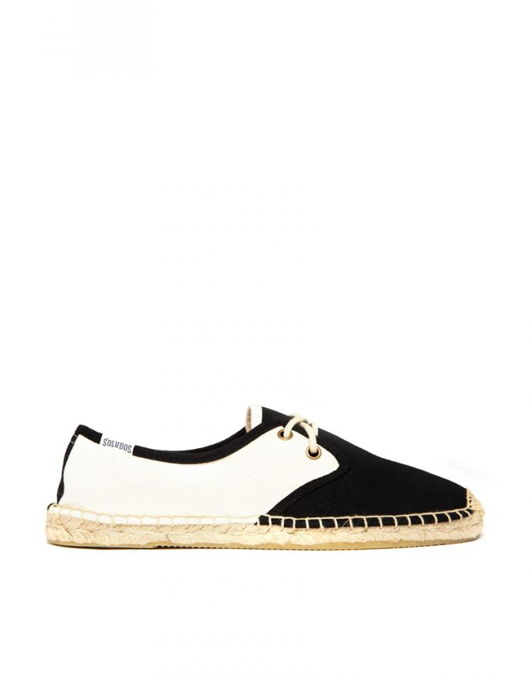 PRODUCT_IMAGE Soludos Colourblock Derby Lace Up Espadrille Flat Shoes