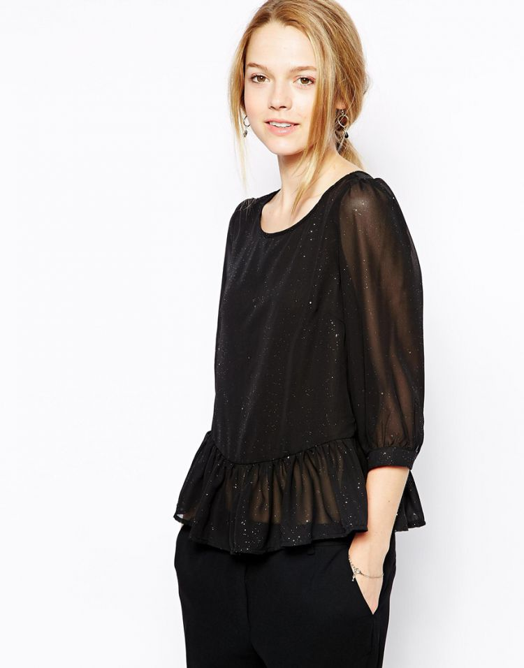 PRODUCT_IMAGE Sugarhill Boutique Biba Sparkle Peplum Blouse