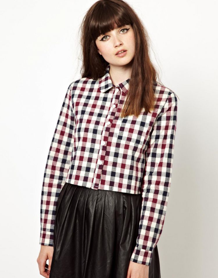 PRODUCT_IMAGE The WhitePepper Cropped Shirt in Check