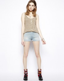 7 For All Mankind Loane Shorts in California Sunlight