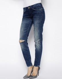 7 For All Mankind Skinny Ripped Jean