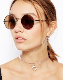 ASOS 90s Heart Invisible Choker Necklace