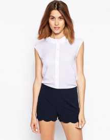 ASOS Blouse with Scallop Collar