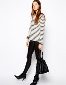 ASOS Coated Leather Look Leggings