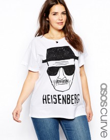 ASOS CURVE Boyfriend T-Shirt With Breaking Bad Print