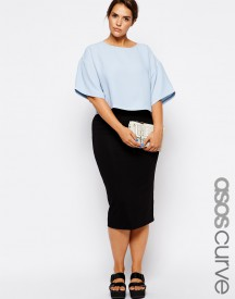 ASOS CURVE Double Layer Pencil Skirt