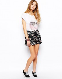 ASOS Floral Printed Culottes with Tie Waist
