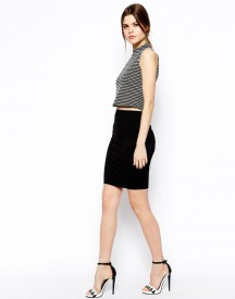 ASOS Knee Length Pencil Skirt In Jersey