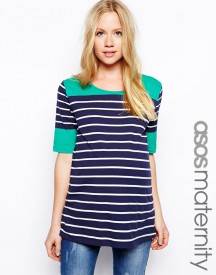 ASOS Maternity Exclusive Colourblock Breton Stripe Top
