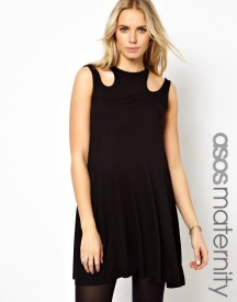 ASOS Maternity Exclusive Swing Dress With Cut Out