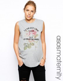 ASOS Maternity Tank Top With Floral Print
