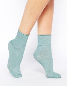ASOS Metallic Roll Top Ankle Socks