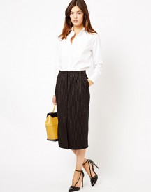 ASOS Pencil Skirt in Pinstripe