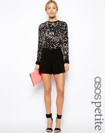 ASOS PETITE Exclusive Shorts With Pleat Detail