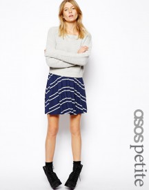 ASOS PETITE Skater Skirt in Stripe