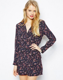 ASOS Playsuit in Abstract Floral Print