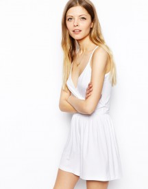 ASOS Plunge Wrap Front Playsuit with Cami Straps