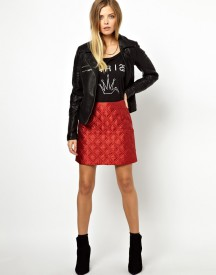ASOS Premium Quilted A-Line Mini Skirt