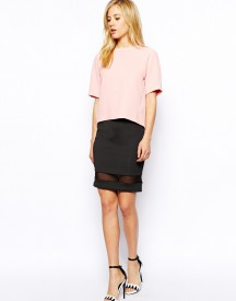 ASOS Scuba Mini Skirt In Sheer And Solid