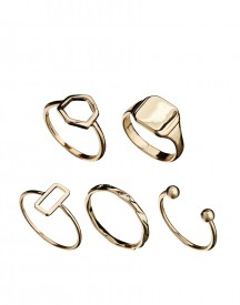 ASOS Sovereign And Shapes Ring Multipack