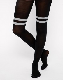 ASOS Tights With Contrast Stripe Over The Knee