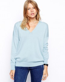 ASOS V-Neck Jumper in Loose Fit