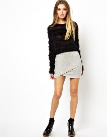 ASOS Wrap Mini Skirt In Sweat