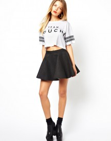 Bitching & Junkfood Quilted Skater Skirt