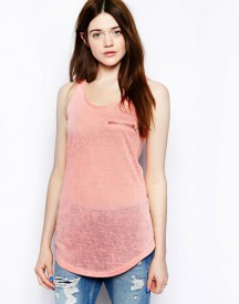 Brave Soul Vest Top With Zip Pocket Detail
