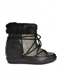Bronx Faux Fur Lined Speckled Ankle Boots