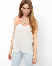 By Zoe Camisole Top with Contrast Neon Trim