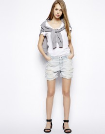 Calvin Klein Jeans Distressed Boyfriend Shorts